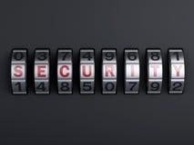 Combinaison de mot de passe de sécurité illlustration 3d Image libre de droits