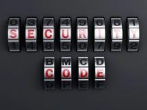 Combinaison de mot de passe de sécurité illlustration 3d Photo stock
