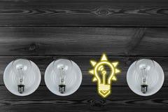 Combinaison des ampoules Images stock