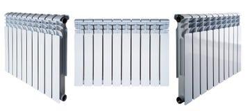 Combinaison des plusieurs radiateur blanc d'isolement sur le fond blanc Photo stock