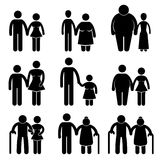Combinaison impaire de couples d'amoureux illustration libre de droits