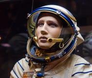 Combinaison spatiale russe d'astronaute dans le musée d'espace Photo libre de droits