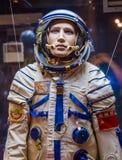 Combinaison spatiale russe d'astronaute dans le musée d'espace Image libre de droits