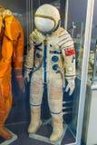 Combinaison spatiale russe d'astronaute dans le musée d'espace de St Petersbourg Photo stock