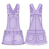 Combinaison violette de denim Photo stock