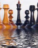 Combinatie van schaakstukken Stock Foto