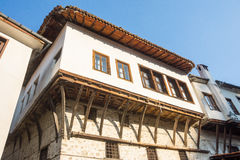 The combination of architectural styles in the old Melnik, Bulgaria Stock Photos
