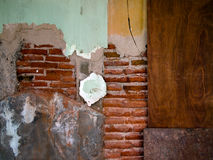 The combination of brick wall and wood Royalty Free Stock Images