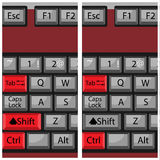 Combination button keyboard, page next and back vector illustration
