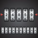 Combination, code lock numbers. Vector. Stock Image