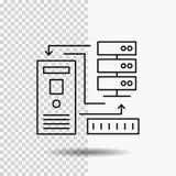 Combination, data, database, electronic, information Line Icon on Transparent Background. Black Icon Vector Illustration vector illustration