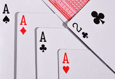A combination of four aces Royalty Free Stock Photo