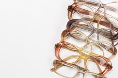 Optical vintage glasses isolated stock photography