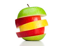 Combination of green, yellow and red apples Stock Photo