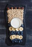 The combination of a healthy breakfast Royalty Free Stock Photos