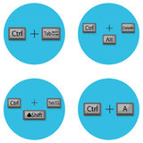 Combination of keyboard hot buttons Royalty Free Stock Image