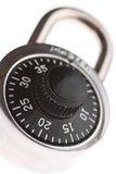 Combination lock. With focus on number 20 Stock Photo