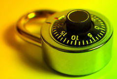 Combination Lock. With Colored Filter Royalty Free Stock Photos
