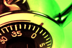 Combination Lock. With Colored Filter and Blur Stock Photo