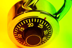 Combination Lock. With Colored Filter Royalty Free Stock Images