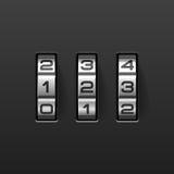 Combination lock. Vector illustration of a combination lock stock illustration