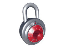 Combination Lock. Created in 3D Studio Max Royalty Free Stock Photo