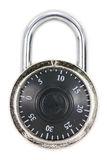A combination lock. With a white background Royalty Free Stock Photography