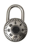 Combination Lock. An isolated combination lock that you would use to protect your valuables Stock Images
