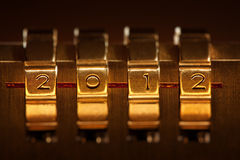 Combination lock. With 2012 number Stock Photos