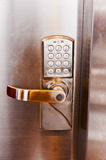 Combination lock. Numerical code lock on a doorrn Royalty Free Stock Images