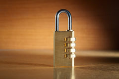 Combination lock. Modern combination lock still life Royalty Free Stock Image