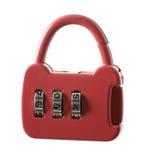 Combination lock. Isolated on white background stock photos
