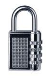 Combination lock. Closed combination lock  on white Stock Photography