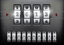Combination lock. Showing the number of the year 2013 vector illustration