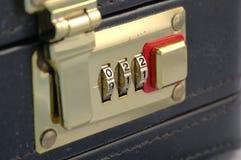 Combination Lock. Briefcase combination lock stock photography