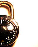 Combination Lock. A simple isolated combination lock. This image could be used for subjects such as protection, security, guarding etc royalty free stock image