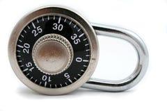 Combination lock. Isolated combination lock Royalty Free Stock Image