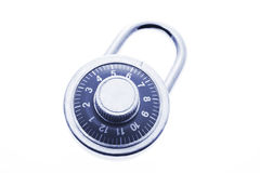 Combination Lock. In Blue Tone on White Background Royalty Free Stock Photo