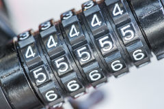 Combination lock for bicycle Royalty Free Stock Images