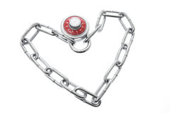 Combination Lock with Chain Royalty Free Stock Photos