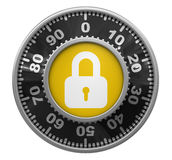 Combination Lock (clipping path included) Royalty Free Stock Photos