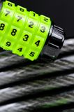 Combination Lock. A close-up of bike combination lock Royalty Free Stock Image