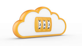 Combination lock and cloud Royalty Free Stock Image