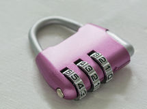 Combination lock. Coded lock, close-up on a white background. digital code. Security, privacy Royalty Free Stock Photography