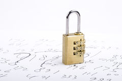 Combination lock on codes Royalty Free Stock Image