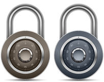 Combination Lock Collection Royalty Free Stock Images
