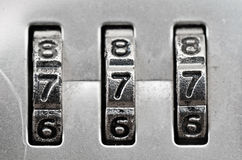 Combination Lock dials Stock Images