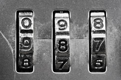 Combination Lock dials Stock Photography