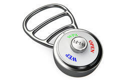 A combination lock with encryption protocols dial Royalty Free Stock Photos