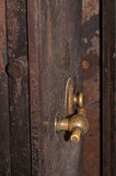 Handle and Combination Lock on Old Safe Door Stock Image